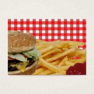 Hamburger, Gebraden gerechten, Ketchup, het Rode Visitekaartjes