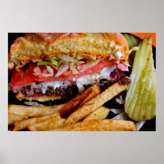 Hamburger & Gebraden gerechten Poster