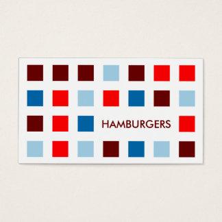 HAMBURGERS (mod.vierkanten) Visitekaartjes