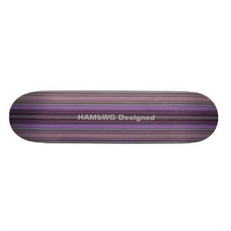 HAMbyWG Ontworpen Skateboard - de Paarse Strepen