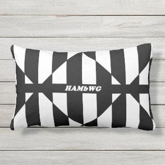 HAMbyWG Openlucht Lumbale Pillow Blk/Wh Di Stripe Lumbar Kussen