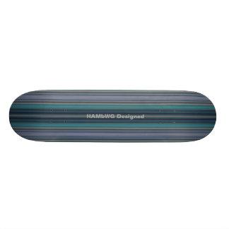 HAMbyWG - Skateboard - Blauwgroen Strepen