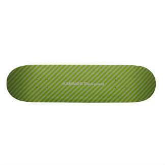 HAMbyWG - Skateboard - Diagonale Strepen Greem