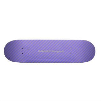 HAMbyWG - Skateboard - Paarse Grijze Strepen