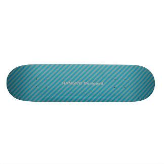 HAMbyWG - Skateboard - Strepen Aqua