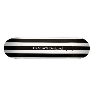 HAMbyWG - Skateboard - Zwarte Witte Brede Streep