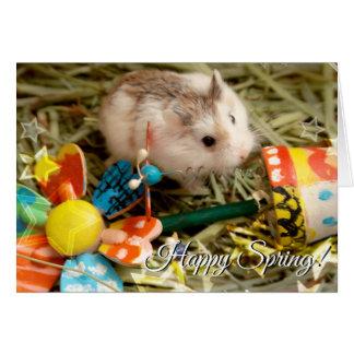 Hammyville - de Hamster van de Bloem van de Lente Kaart