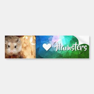 Hammyville - de Hamster van de Liefde van I Bumpersticker
