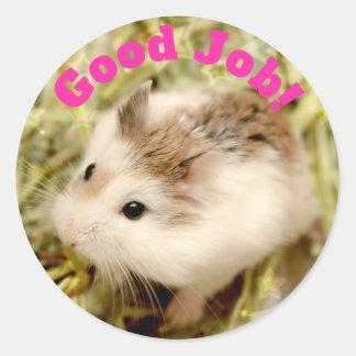 Hammyville - de Leuke Goede Baan van de Hamster Ronde Sticker