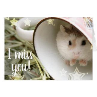 Hammyville - Leuke Hamster in een Kop Kaart