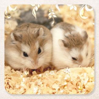 Hammyville - Leuke Hamster Vierkante Onderzetter