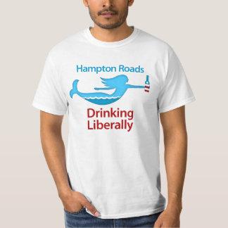 Hampton Roads die vrij om het Overhemd van het T Shirt