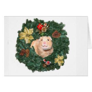 Hamster en de kroon van Kerstmis Briefkaarten 0