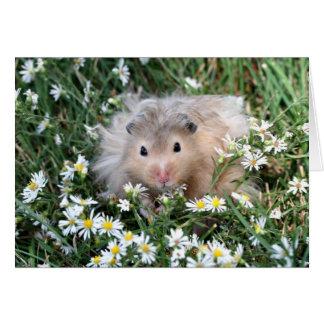 Hamster in bloemen briefkaarten 0