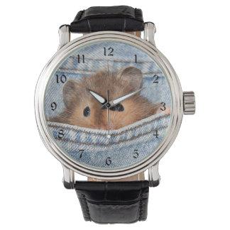 Hamster in jeans horloge