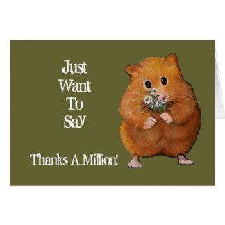 Hamster, Madeliefjes: Hartelijk dank: Kunstwerk Kaart