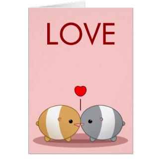 hamsters in liefde kaart