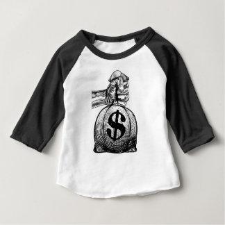 Hand die een Zak van het Geld van de Zak van de Baby T Shirts