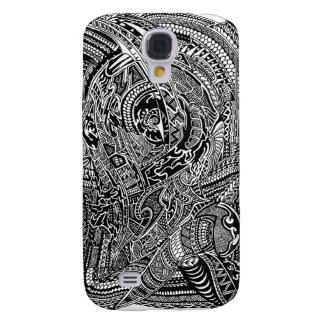 Hand-drawn Abstracte Stammen Gekke Krabbel Galaxy S4 Hoesje