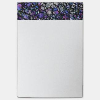 Hand-Drawn Abstracte Zwarte Cirkels, Blauw, Paars, Post-it® Notes