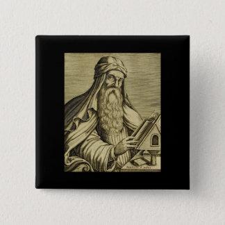 Hand-drawn Afbeelding van het vintage Basilicum Vierkante Button 5,1 Cm