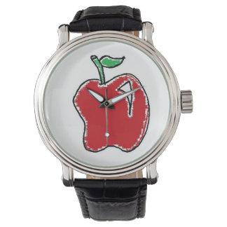 Hand-drawn Horloge van de Cartoon van Apple