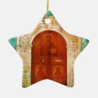 Hand Geschilderde Griekse Orthodox van de Deur van Keramisch Ster Ornament