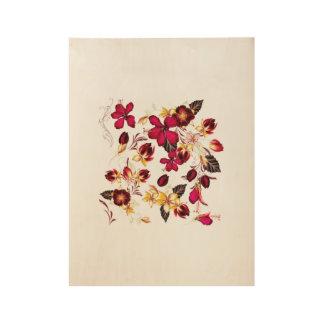 Hand getrokken Bloemenhout Houten Poster