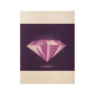 Hand getrokken Diamant: op hout Houten Poster