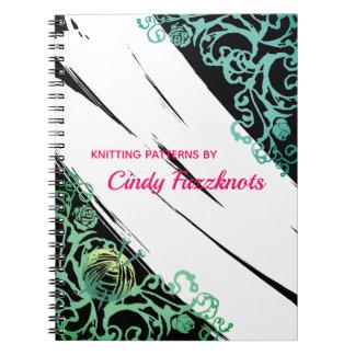 Hand getrokken het patroonnotitieboekje van het notitieboek