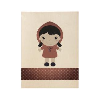 Hand getrokken houten Bard: met rode Berijdende Houten Poster