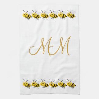 Handdoek met monogram van de Keuken MoJo van Bijen