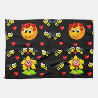 Handdoek van de de bijen de zwarte witte