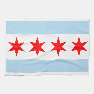 Handdoek van de Keuken MoJo van de Vlag van Chicag