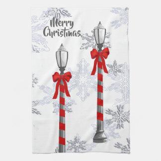 Handdoek van de Keuken van de Lamp van Kerstmis de