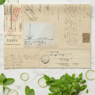 Handdoek van het Briefkaart van de vintage Vorm