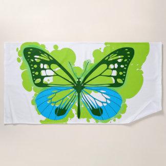 Handdoek van het Strand van de Vlinder van het