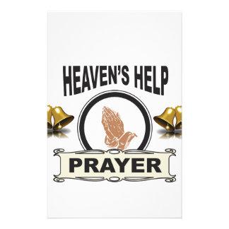 handen van hulp en gebed briefpapier