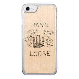Hang Losse Luiaard Carved iPhone 7 Hoesje
