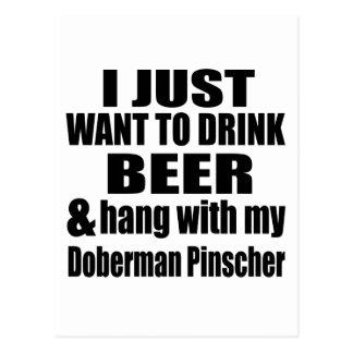Hang met Mijn Doberman Pinscher Briefkaart