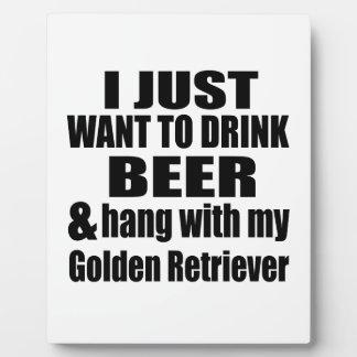 Hang met Mijn Golden retriever Fotoplaat