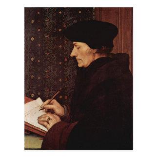Hans Holbein - Portret van Erasmus Desiderius Briefkaart