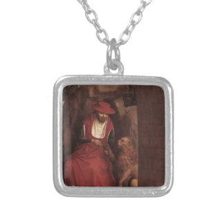 Hans Memling- St. Jerome en de Leeuw Zilver Vergulden Ketting