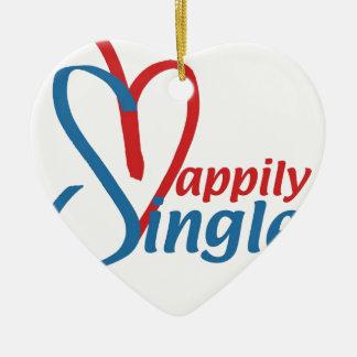 HappilySingle™ Keramisch Hart Ornament