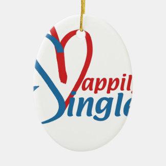 HappilySingle™ Keramisch Ovaal Ornament