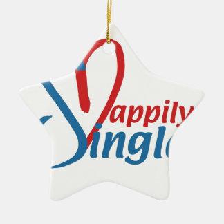 HappilySingle™ Keramisch Ster Ornament