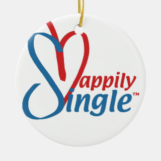 HappilySingle™ Rond Keramisch Ornament