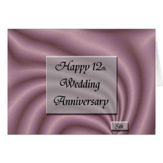 Happy12th. Het Jubileum van het huwelijk Kaart
