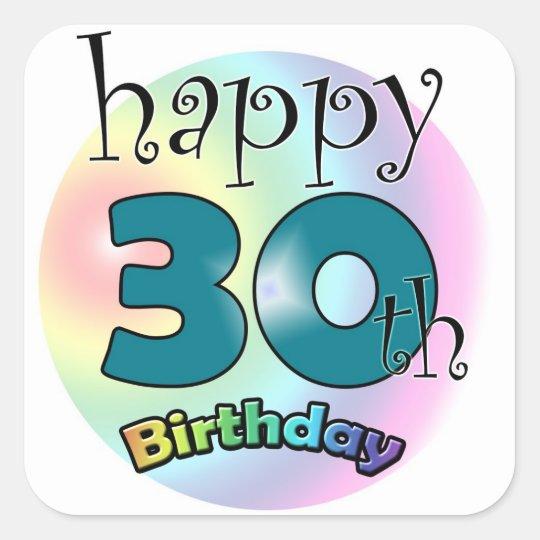 Happy 30th Birthday Vierkante Sticker