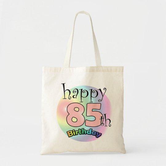 Happy 85th Birthday (roze) Draagtas